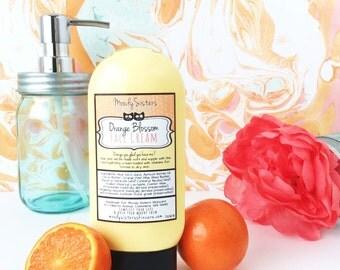 Orange Blossom Face Cream- Organic Moisturizer Cream Natural Orange Face Lotion