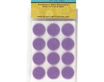 "1"" Lavender Adhesive Felt Circles 48 Dots"