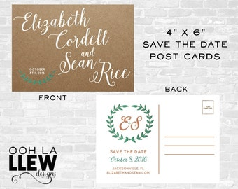 Kraft Post Card Save The Date