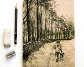 Sketchbook/Jotter - Dog Walk