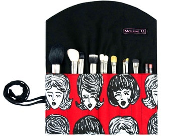 The Amy Makeup Brush Roll
