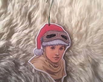 REY Star Wars Force Awakens Christmas ornaments
