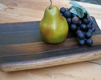 medium tray from reclaimed wine barrel four staves