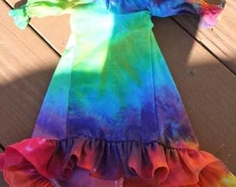 Tie dye Doll dress