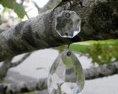 Vintage Crystal Prisms,18 Replacement tear drop crystal prisms, Vintage chandelier, crystals
