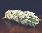White Sage Smudge Wand - smudge stick, house blessing, Wiccan, Native American, Pagan, smudge supply, house clearing, incense