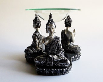 Buddha Oil Burner - oil diffuser, Zen decor, meditation room, tibetan decor, yoga gift, gift idea, buddha decor, tealight holder