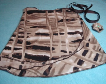 "13"" Silky Browns Ballet Wrap Skirt"