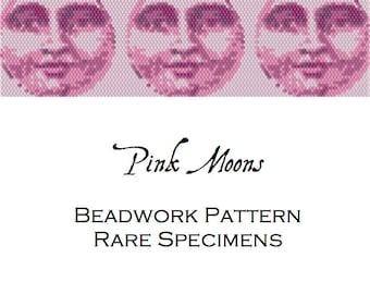 Pink Moons Peyote Stitch Pattern