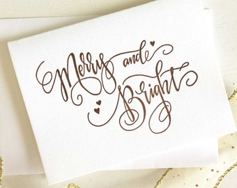 Calligraphy Christmas Card Letterpress Christmas Card
