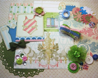 Webster's Pages Palm Beach Embellishment Kit Inspiration Kit for Scrapbook Layouts Cards Mini Albums Tags and Paper crafts 1