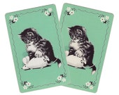 MOUSE A-GO-GO (2) Vintage Single Swap Playing Cards Paper Ephemera Scrapbooking