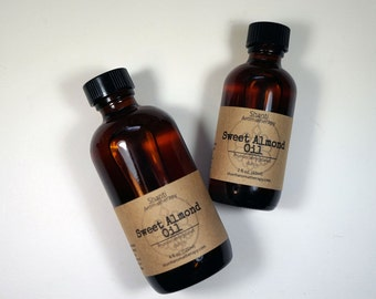 Sweet Almond Oil - Carrier Oil For Aromatherapy - Massage Oil - Skin Care Oil