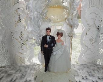 Vintage 1960's Wilton Bride Groom Wedding Cake Topper