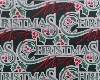 1 Sheet Vintage Merry Christmas Gift Wrapping Paper