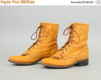 ANNIVERSARY SALE 80's Lace-Up LEATHER Laredo Boots Us 8