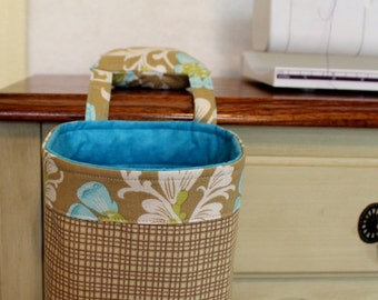 Thread Catcher, Scrap Caddy, Scrap Bag, Pincushion, Amy Butler