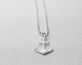 On Sale Anchor Necklace, Anchor Jewelry, Anchor Pendant, Small Anchor Charm Necklace, Sterling Silver Jewelry, Sterling Silver Anchor Neckla