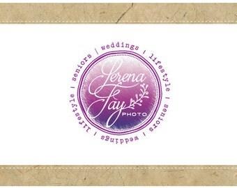 Custom Logo Design - PreDesigned Logo - PreMade Logo - Vector Logo - OOAK Logo -  SERENA Logo Design - Watercolor Logo - Painted Logo