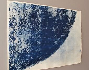 Large Lunar Cyanotype Survey B1 Blueprint