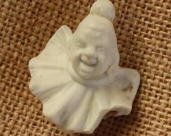 Broken Clown Doll Head Small Antique German Porcelain