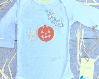 Halloween - Children - Pumpkin - Jack o lantern - Bat - Baby long sleeve Onesie