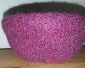 Felted Wool Bowl in Deep Violet with Purple Flecks