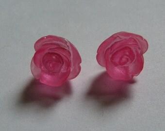 Pink Rose Stud Earrings     831