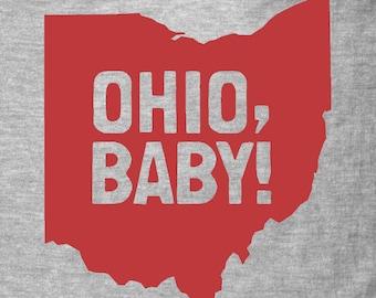 Gray OHIO, BABY Kids Shirt/Onesie
