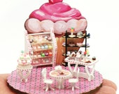 1:48 Scale Cupcake Emporium Kit, Dollhouse Miniature, Shop, Bakery, Candy Store