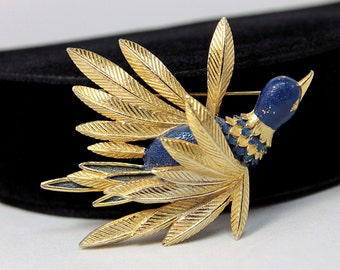 St. Labre Bird Brooch, ca. 1970s, Gorgeous!
