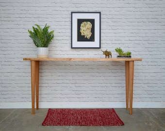 In Stock! Live Edge Cherry Console Table