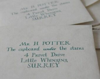 Set of TWO Hogwarts Acceptance Letter Ornaments