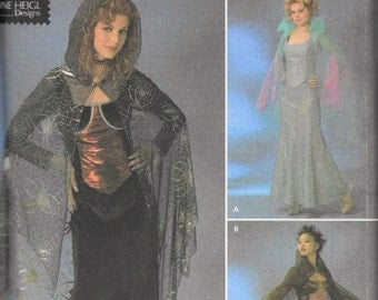 Simplicity 4956 Sewing Pattern Misses Gothic Vampire Costume Size 6-12 Uncut Elaine Heigl