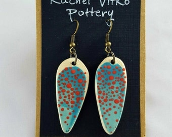 Turquoise painted earrings