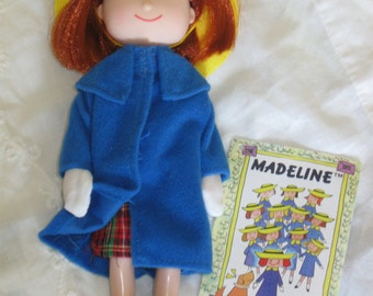 "Vintage 8"" Madeline Doll with Story ""book"" Hang Tag"