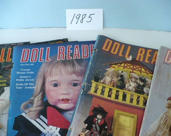 7 Issues Doll Reader Magazine-1985