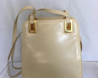 Vintage Bone Leather Handbag - Circa 1980s