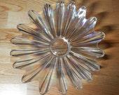 Vintage Federal Glass Celestial Pattern Iridescent Bowl