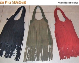 20%OFF bohemian suede fringed boho leather bag...any color!!