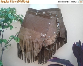 """20%OFF 20 Percent OFF..BURNING Man leather belt with stud and chain detail...32"""" to 40"""" waist or hips.."""