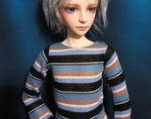 Blue Stripe Sweater 60cm BJD SD/SD13 Shirt