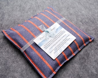 Corn Bag Microwave Heating Pad -- Stripey for Men, hand warmer 9x9 - LAST ONE