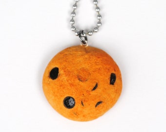 Polymer Clay Chocolate Chip Cookie Necklace