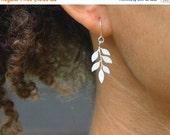 20 off. Beginnings. Tiny leaf earrings in silver simple everyday sweet