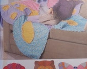 Rag quilts pattern - uncut - butterfly, owl, flower rag quilts pattern