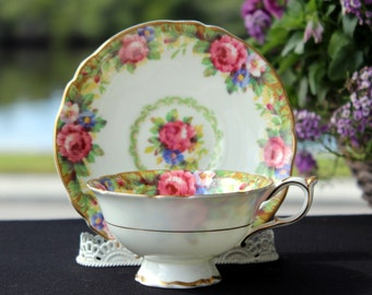 Paragon Bone China Tea Cup by Appointment  - Tapestry Rose Design - 12960