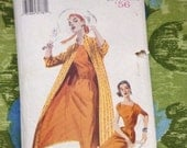 Reserved Butterick 6632 Repro 1950s Dress and Jacket Pattern Size 34 to 38 Inch Bust