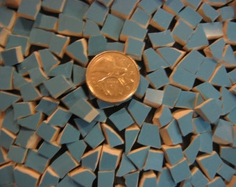 Tiny Turquoise 300 Mini Broken Mosaic Plate Tiles ~ Pique Assiette Supplies