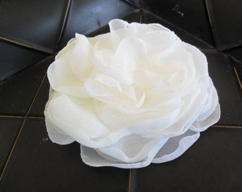 Wedding hair flower, Flower hair clip, Bridal hair accessory,Chiffon hair flower,Wedding hair accessory,Bridal hair flower,YOUR CHOICE COLOR